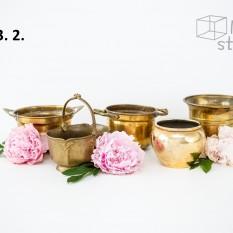 Žalvariniai indai puokštėms (Vz-3)