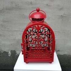 Metalinis raudonas žibintas-narvelis (Žb-10)