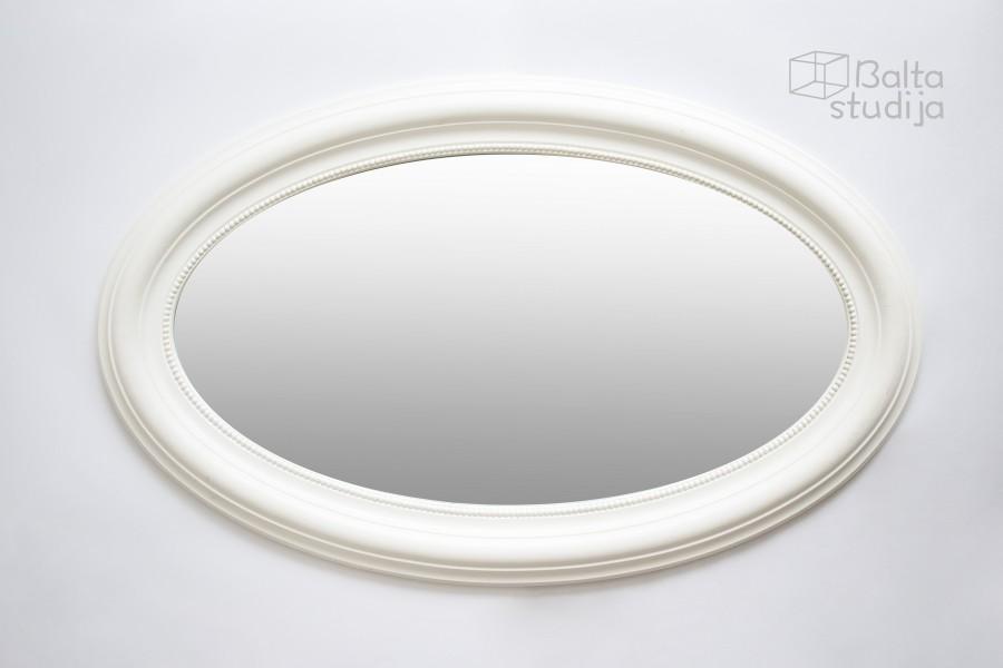Didelis baltas ovalus veidrodis (Vd-1)