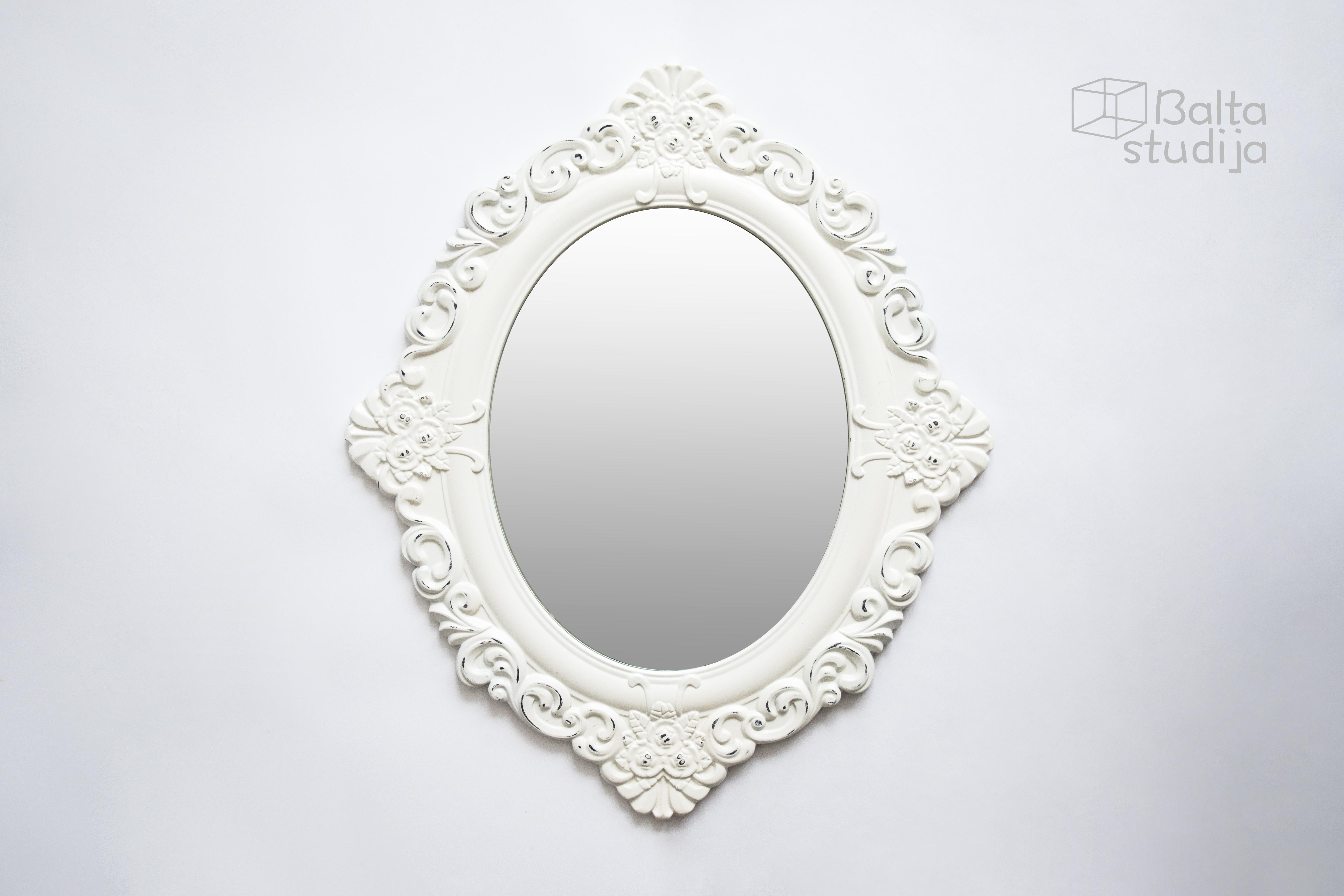 Baltas veidrodis su raižiniais (Vd-4)