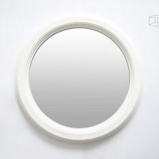Apvalus vidutinio dydžio baltas veidrodis (Vd-5)