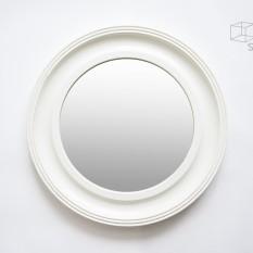 Baltas apvalus mažas veidrodis (Vd-6)