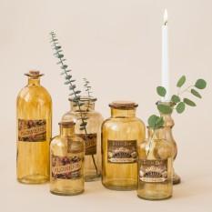 Įvairių dydžių dūminio stiklo vazelės (Vv-12)