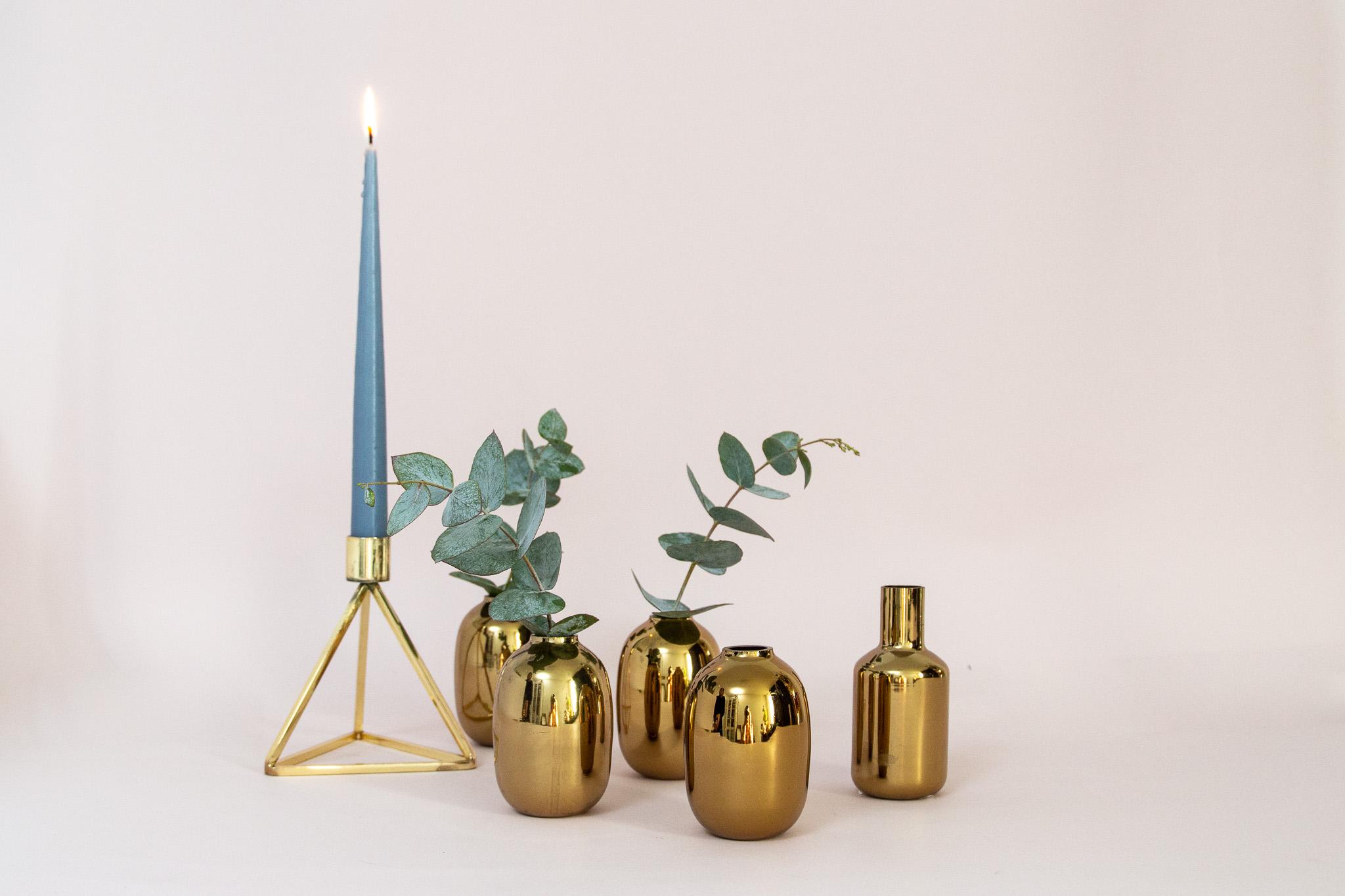 Aukso spalvos mini vazelės žemoms gėlėmsVv-17