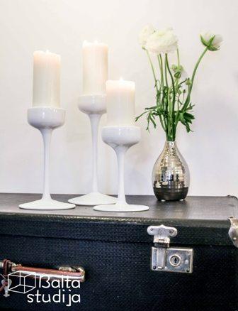 Stiklinių žvakidžių komplektas (Ž-14)