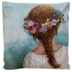 """Pagalvėlės užvalkalas """"Gėlių vainikas II"""""""