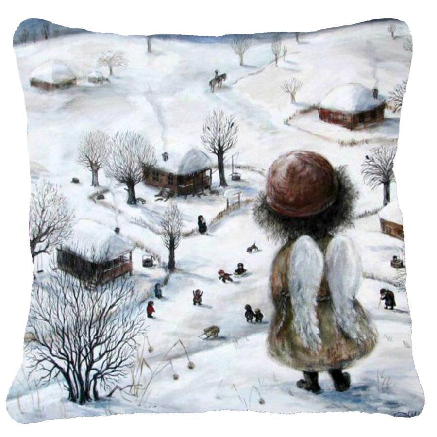 """Pagalvėlės užvalkalas """"Snigo žiemos sode"""""""